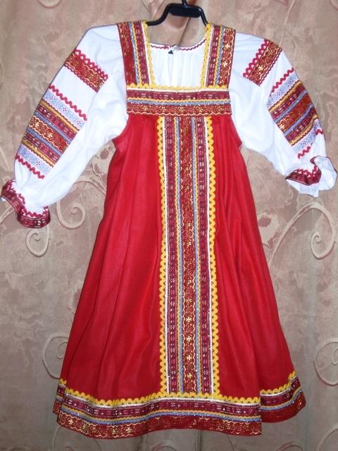 народный русский сарафан, выкройка.
